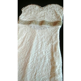 Vestido Novia Largo Straple Ropa Mujer