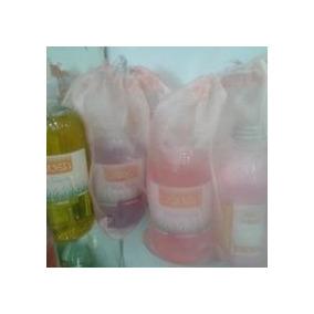10 Set De Spa: Bolsas De Organza C/sal De Baño+gel De Ducha