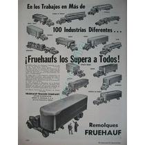 Publicidad Antigua Remolques Fruehauf Abril 1952