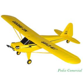 Aeromodelo J3 Cub Elétrico Completo Rtf 2.4ghz