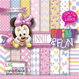 Kit Imprimible Pack Fondos Minnie Mouse Baby Pink Clipart 70