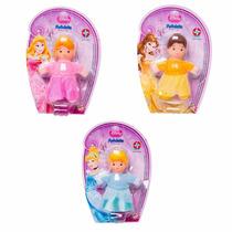 Coleção Com 3 Mini Bonecas Fofolete Princesas Disney Estrela