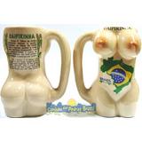 Caneca/copo Corpo De Mulher P/ Caipirinha-souvenir Do Brasil