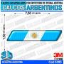 Calcomanias Con Relieve, Accesorio Autos Bandera Argentina
