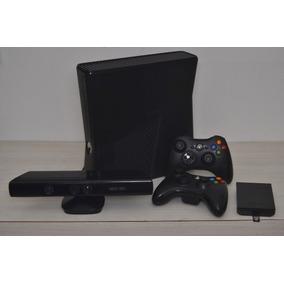 Xbox 360 250gb Slim +kinect +2 Controles +50 Jogos +hdmi