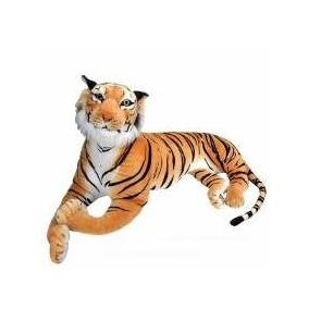 Tigre Pelúcia Grande Com 90 Cm Comp.importado Pronta Entrega