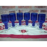 6 Vasos De Vidrio Hecho Con Botella De Vodka Sky. Copas.