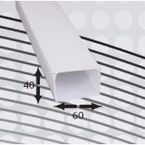 Canaleta 6040 Pvc 25 Cables 60mmx40mmx2.5m 1 Vía Autoext