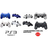Control Ps3, Play Station 3, Azul, Plata, Blanco O Negro.