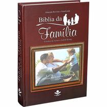 Bíblia De Estudo Da Família Porta Retrato Marrom + Frete