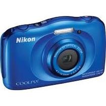 Câmera Nikon Coolpix S33 - 10m +bolsa,32g Classe 10 ,tripé