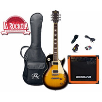 Combo Guitarra Electrica Sx Lespaul + Amplifi 15w Distorsion