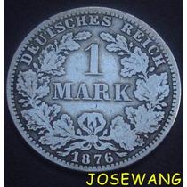 Mark, Moneda Antigua Alemana Del Año 1876 Plata