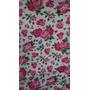 Tela Batista Estampada Flores Fuxia Rosa Confección X Metro