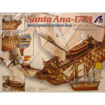 Maqueta Del Barco En Madera Santa Ana 1784 Para Armar