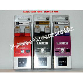 Cable Sony Hdmi - Hdmi 2.0 Mts