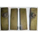 Herrajes-p Blindex-p/puerta 2-bisagras+2-cerraduras (bronce)