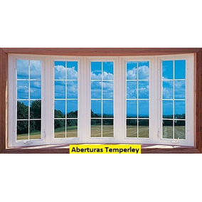 Ventana Bow Window Aluminio Blanco Diseño $ X Módulo 50x150