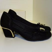 Sapato Salto Quadrado Preto Confort Em Promoção