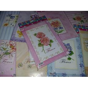 9 Blocos De Papéis De Carta Flores Flower Floral Coleção