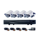 Kit Camaras Seguridad Dvr Hdmi 8 Ch 4 Camaras 800tvl 20 Led