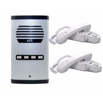 Porteiro Eletrônico Coletivo 4 Pontos Agl + 2 Interfone