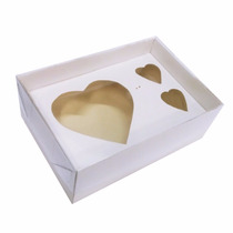 Caixa P/coração De Colher 200g + 2 Bombons - 5 Unid.- Branca