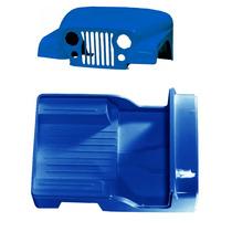 Carroceria Em Fibra Azul Jeep Willys 55 À 83 Cj5 Sem Quadro