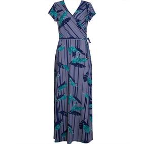 Vestido Feminino Longo Em Malha Estampa Floral Seiki 680726