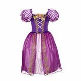Fantasia Vestido Rapunzel Enrolados Promoção Infantil Linda