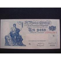 Argentina - Billete D 1 Peso Moneda Nacional, Año 1951 - S/c
