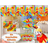 Kit Imprimible Piñon Fijo Candy Bar Golosinas Editable 2x1