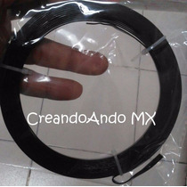 Alambre Bisuteria Aluminio Plano 3.5 Mm X 5 Mts Color Negro