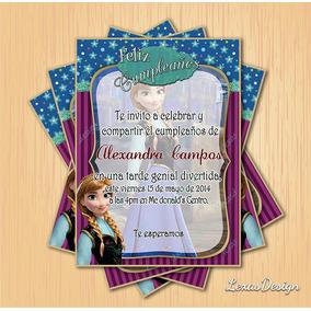 Invitacion Digital Imprimible Frozen Ana Cumpleaños