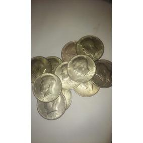 Lote 10 Monedas Antiguas Usa Kennedy 1/2 Dolar 1964 Cuidadas