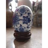Huevo Decorativo Fabricado En Porcelana