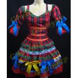 Vestido Junino Festa Junina Caipira Infantil Super Luxo