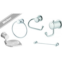 Acessorios Banheiro Kit 5 Pçs Meber Domus C40 Kit Banheiro