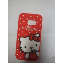 Funda Goma Botarga 3d Hello Kitty Samung Galaxy S6 Edge