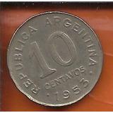 Moeda Argentina 10 Centavos Peso Ano 1953 19mm
