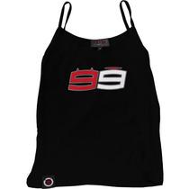Camiseta Regata Jorge Lorenzo 99 Feminina Preto Gg(xl) Rs1