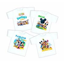 Playera Casa De Mickey Mouse Personalizada Fiesta Infantil