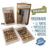 Pirograbador Cont Temp +11 Puntas + Mayusc + Minusc. + Númer