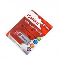 Pen Drive 64gb Veteke Usb 2.0 Vermelho - Original Lacrado