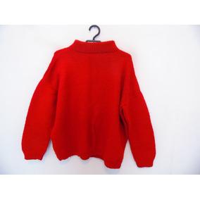 Suéter Feminino Vermelho Tricot Gola Alta Cód. 679