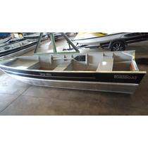 Casco Barco De Aluminio Way 420 Semi Chato