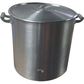 Olla Aluminio Gastronomica N°50 C/ Tapa 100 Litros Reforzada