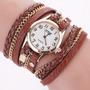 Relógio Feminino Tipo Bracelete Em Couro Pu Vários Modelos