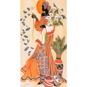 Cuadro Africana Decorativos Impresos 15x28cm