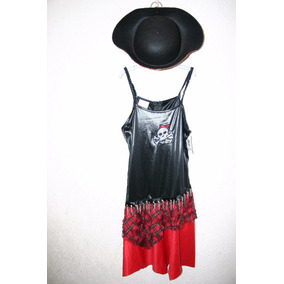 Disfraz Pirata Niña Talla 12/14 Con Sombrero Halloween Nuevo